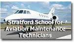 Logo of Stratford School of Aviation Maintenance Technicians